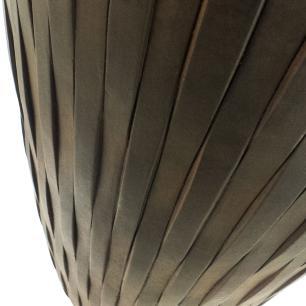 Vaso Cachepot Planta Externo Cimento Cilíndrico Marrom 45x23cm