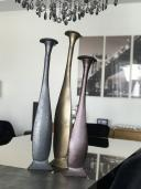 Garrafa Decorativa em Alumínio Cinza Valence 78x16x16cm