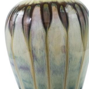 Vaso Decorativo Valence Cerâmica Bege 35,5x14cm