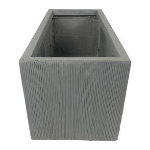 Vaso Cachepot Planta Externo Cimento Retangular Cinza 80x40cm