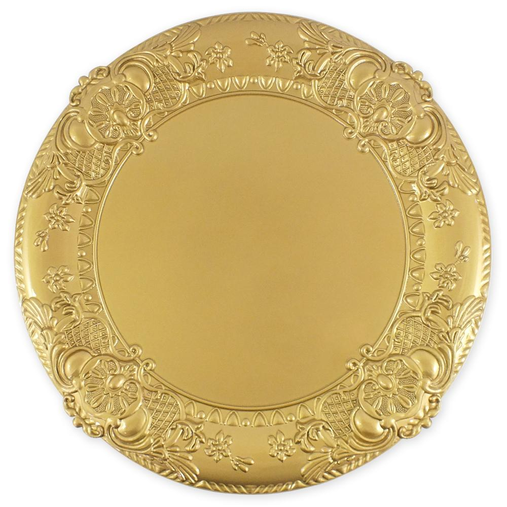 Sousplat Valence Redondo Dourado 38 cm