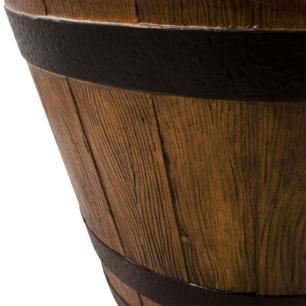 Vaso Cachepot Planta Externo Cimento Marrom 30x45cm