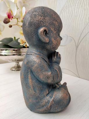 Estatueta Decorativa de Resina Valence Buda 18x17x32cm