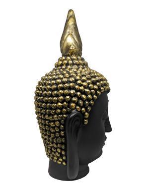Estatueta Decorativa Cabeça Buda Valence Gold 28x50cm