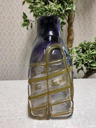 Vaso Garrafa Decorativa de Vidro Valence Roxo 29x23x12cm