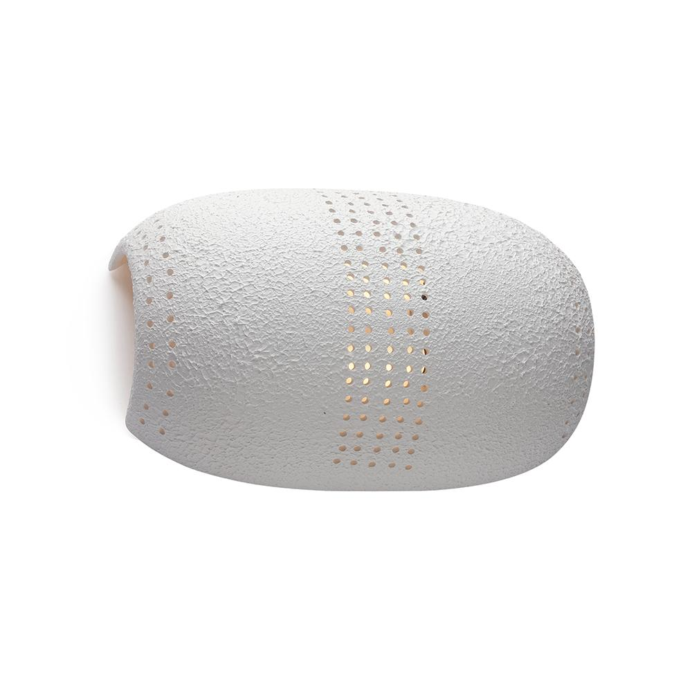 Arandela de Cerâmica Tuatu Branco Granulado