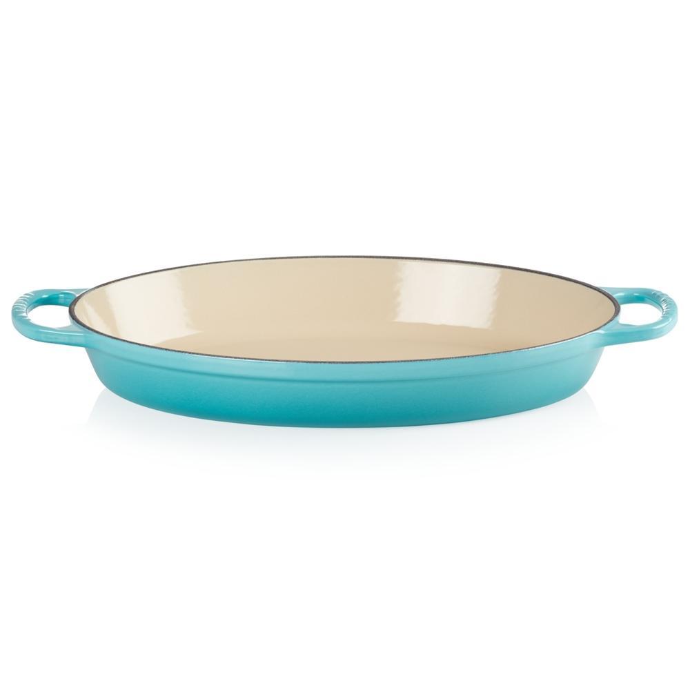 Assadeira Oval em Ferro Fundido 32 cm Azul Caribe Le Creuset