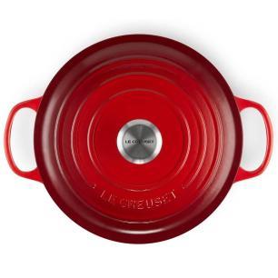 Panela Redonda Funda Signature 26 cm Vermelho Le Creuset