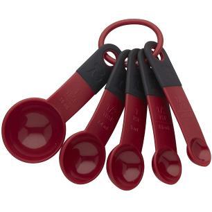 Conjunto de 5 Colheres Medidoras Vermelho Empire KitchenAid