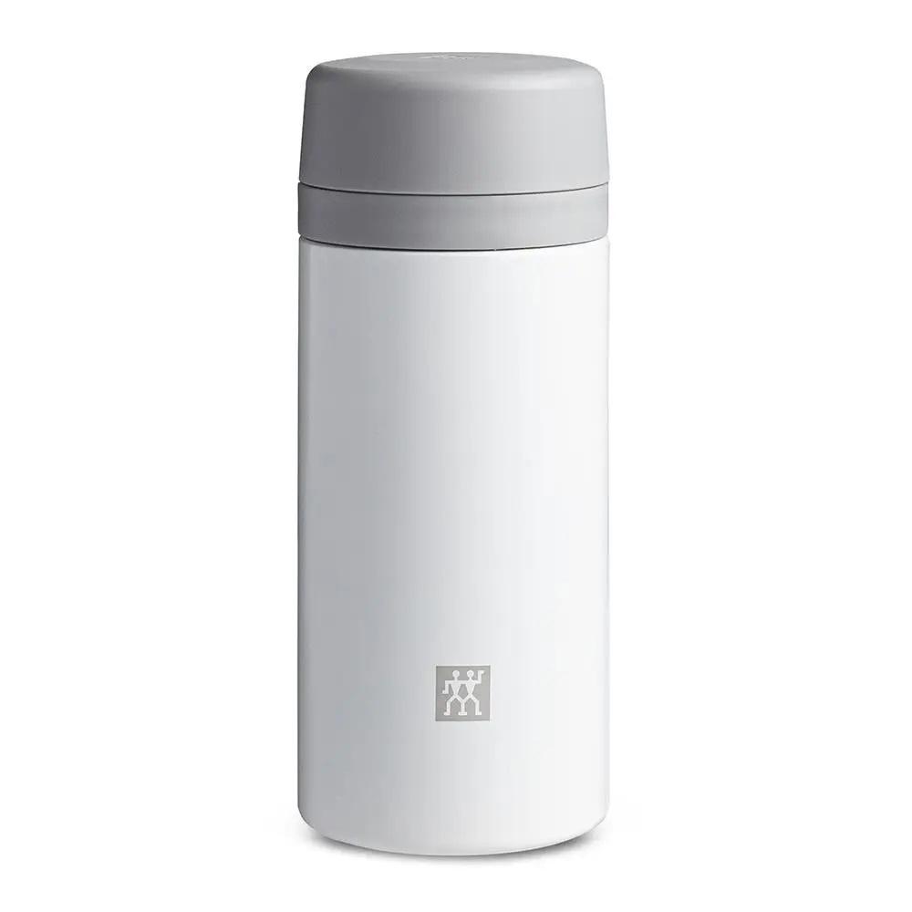 Garrafa Térmica com Infusão para Chá 420 ml Cinza e Branco Zwilling Thermo