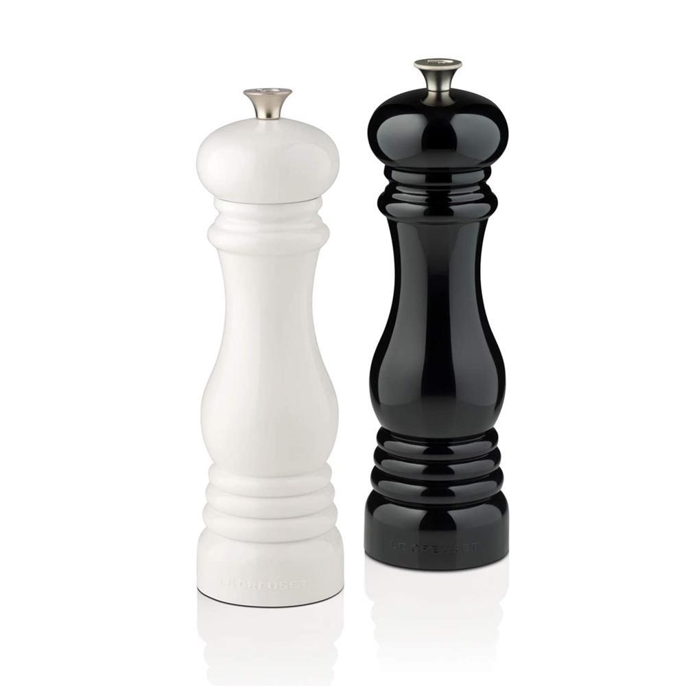 Conjunto de Moedores Sal e Pimenta Preto e Branco 21 cm Le Creuset