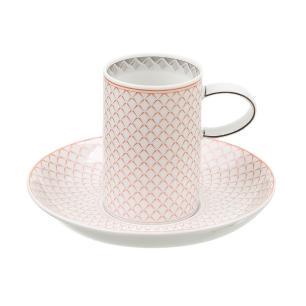 Xícara de Café com Pires em Porcelana Maya 100 ml Vista Alegre
