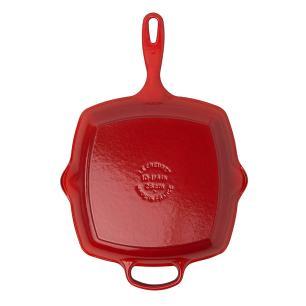 Grelha Quadrada Signature 26 cm Vermelho Le Creuset