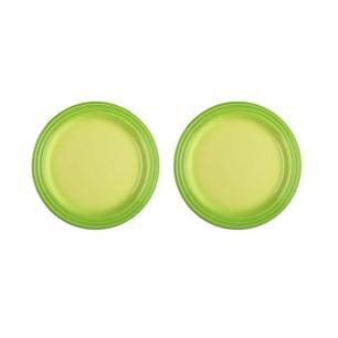 Jogo de 2 Pratos Rasos de Cerâmica 23 cm Verde Kiwi Le Creuset
