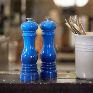 Kit Moedores de Sal e Pimenta 21 cm Azul Marseille Le Creuset
