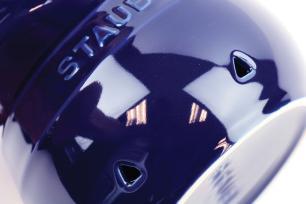 Porta Alho de Cerâmica 11 cm Azul Marinho Staub