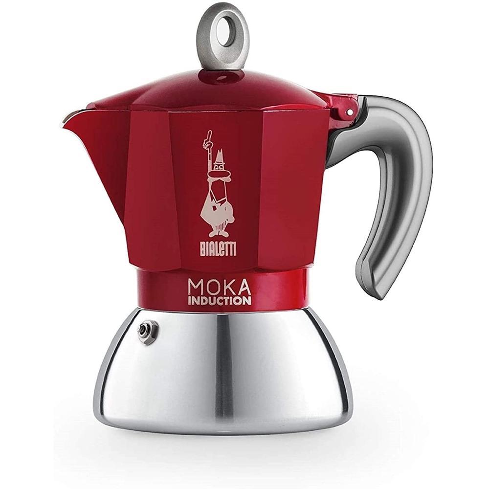 Cafeteira Moka Induction 4 Xícaras Vermelho Bialetti