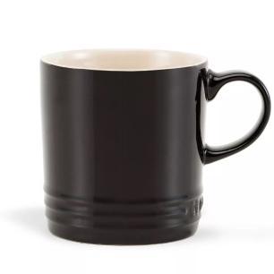Caneca Cappuccino de Cerâmica 200 ml Preto Le Creuset