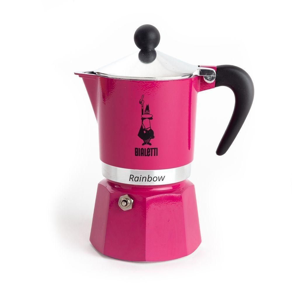 Cafeteira Rainbow 3 Xícaras Pink Bialetti