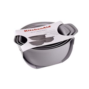 Conjunto Bowls 3 Tigelas de Plásticos Cinza - KitchenAid