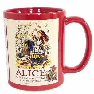 Caneca Vermelha As Aventuras de Alice In Wonderland