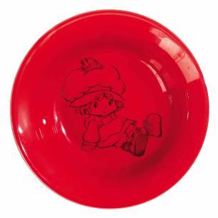 Tigela Porcelana Vermelha Moranguinho
