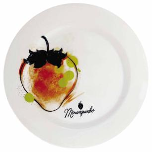 Prato Raso para Refeição Porcelana Moranguinho Strawberry