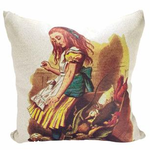 Capa de Almofada Linho Sonhos de Alice
