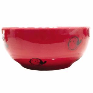 Tigela em Porcelana Vermelha Olívia