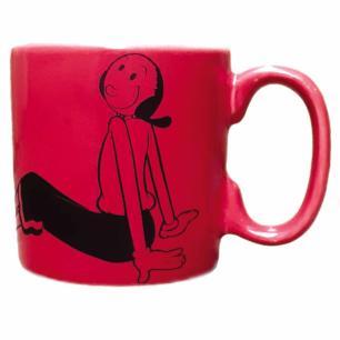Xícara de Caféem Porcelana Vermelha Olíviaem Porcelana Vermelha Olívia