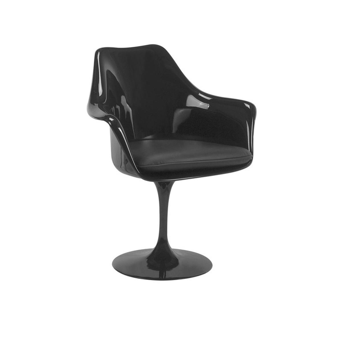 Cadeira Saarinen Com Braço Preta