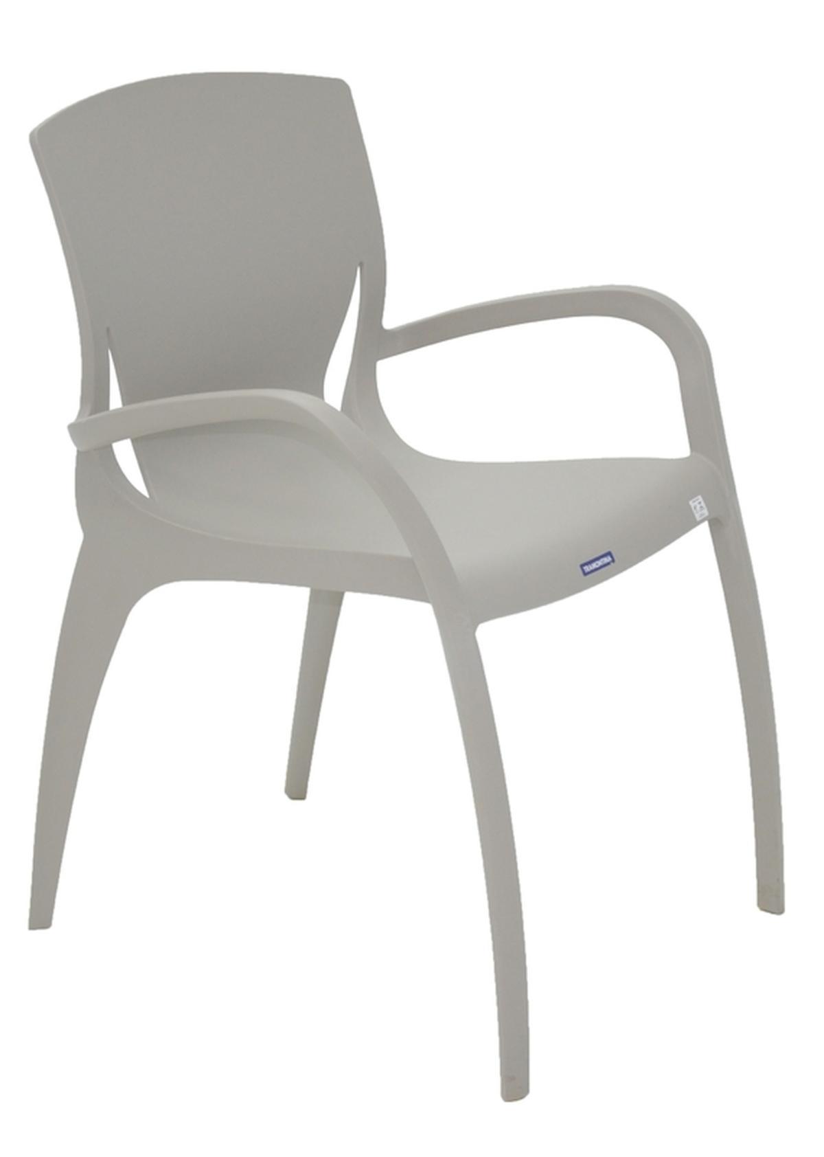 Cadeira Com Braços Clarice Concreto