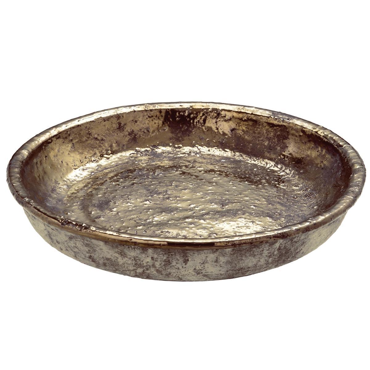 Centro de Mesa em Cerâmica Bronze