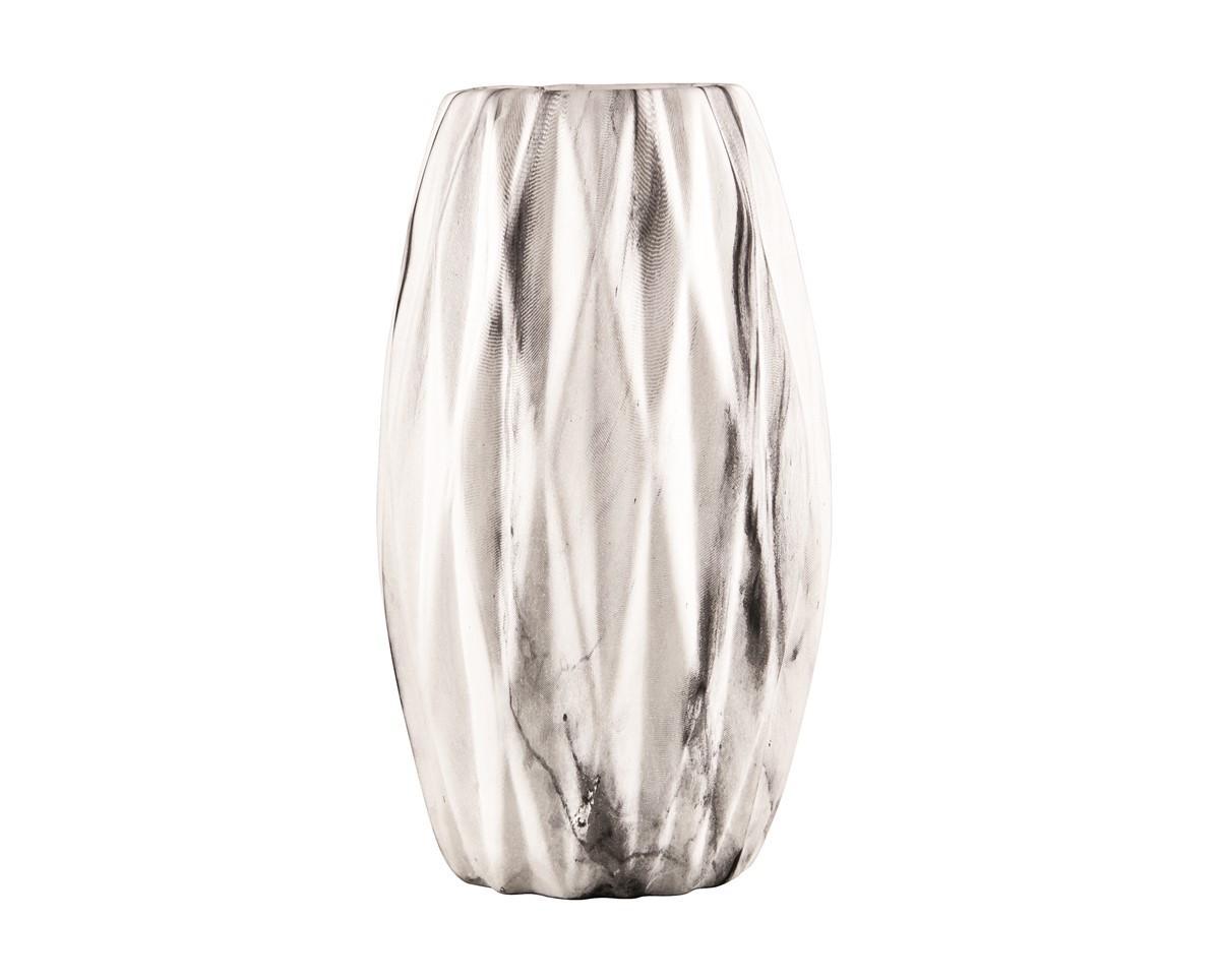 Vaso em Vidro Prata