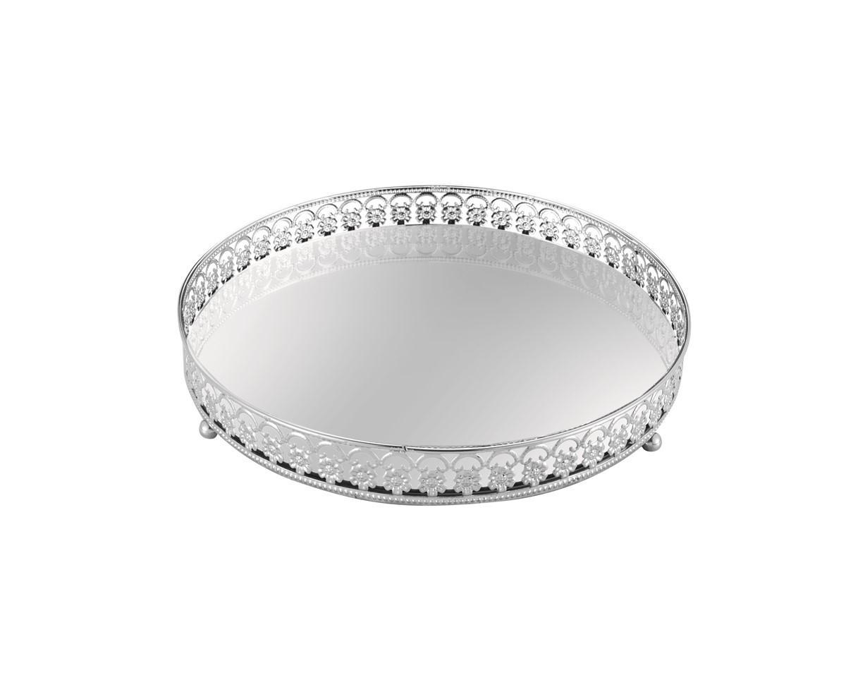 Centro de Mesa em vidro Prata