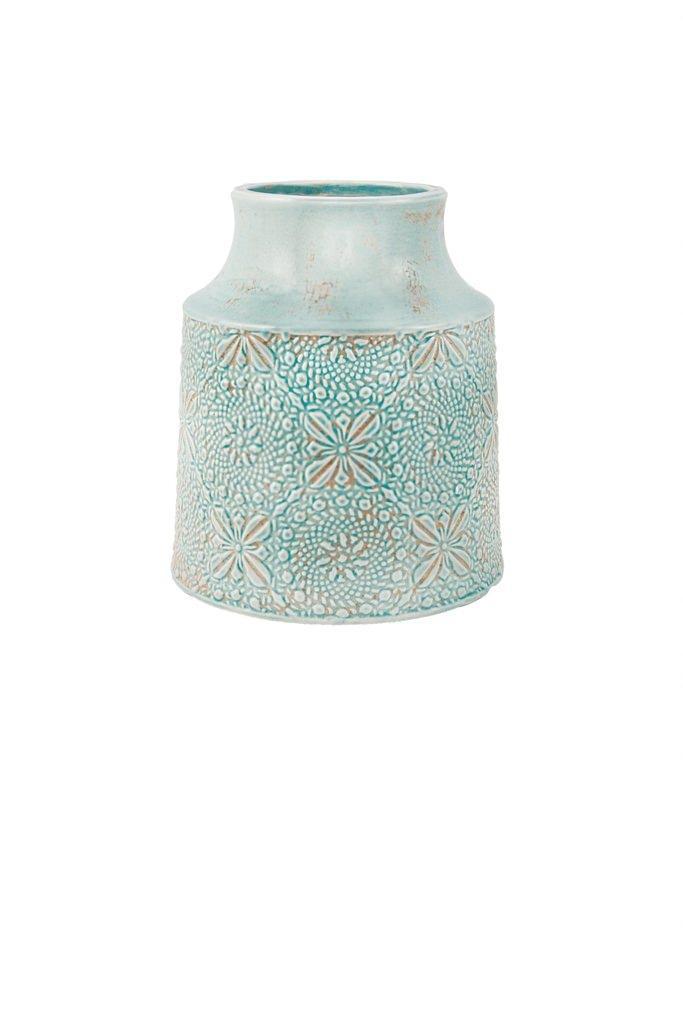 Vaso Ceramica Azul