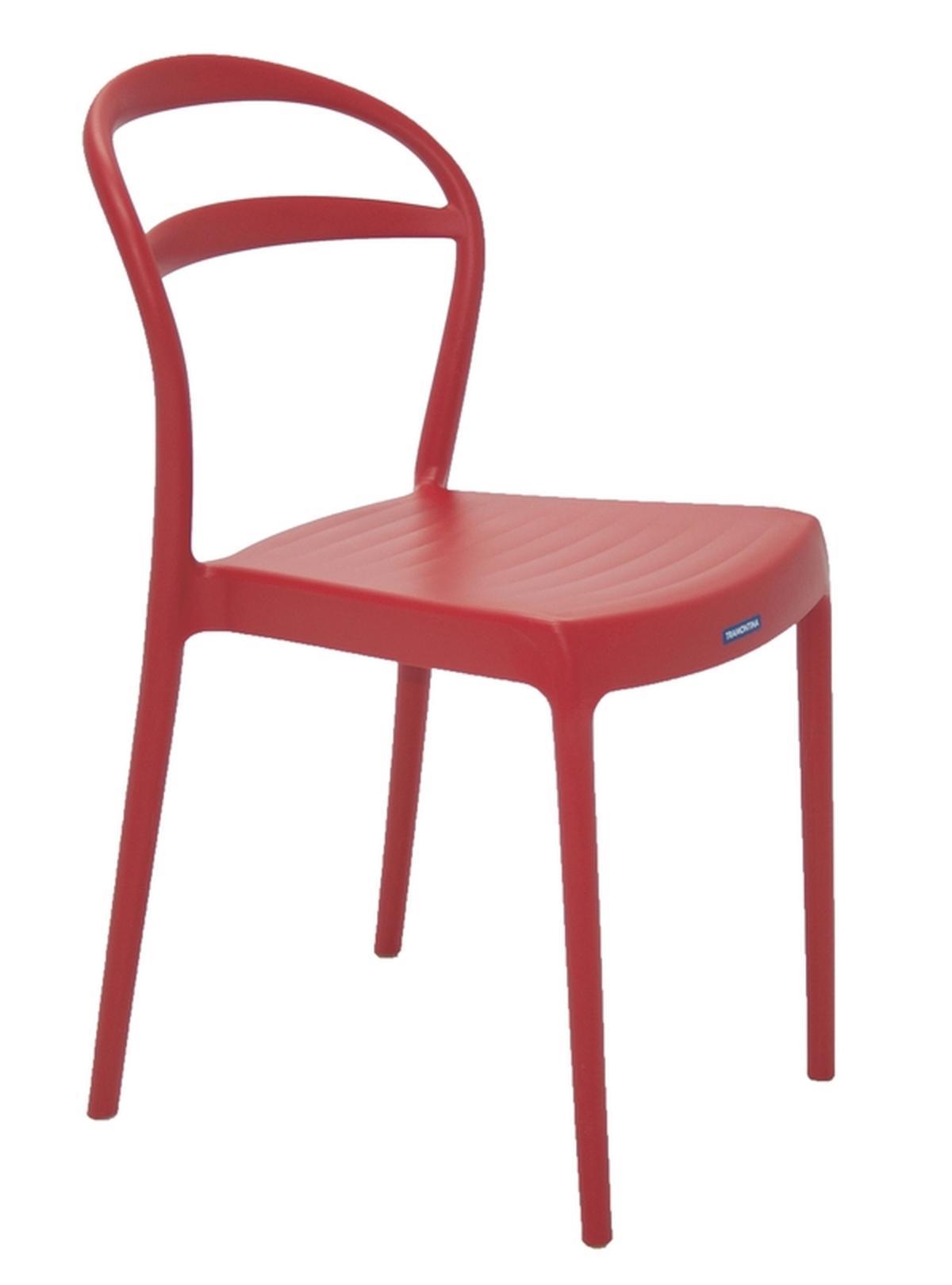 Cadeira Sissi Encosto Vazado Vermelho