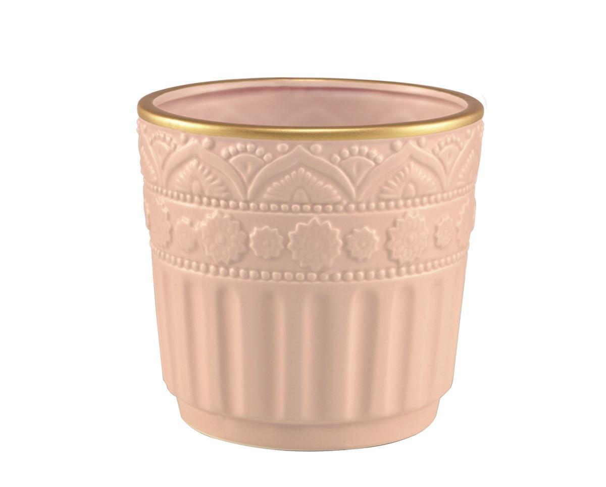 Cachepot em Cerâmica Rosa