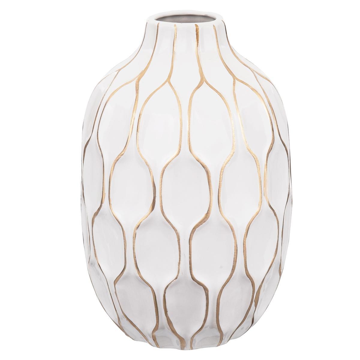 Vaso Branco Em Cerâmica