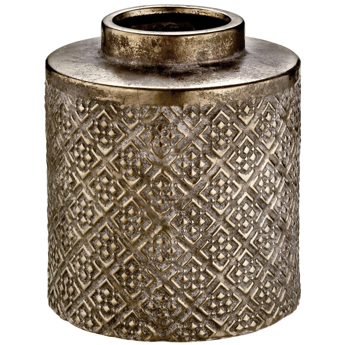 Vaso em Cerâmica Bronze