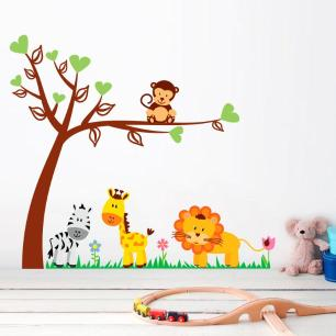 Adesivo Decorativo Infantil Safari 11 1,25x1,40cm