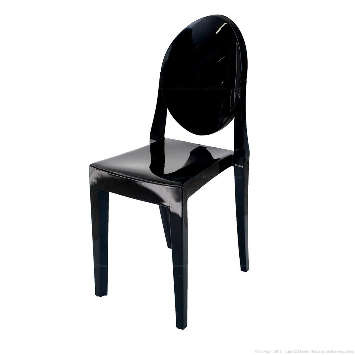 Cadeira Victoria Ghost Preto Solido