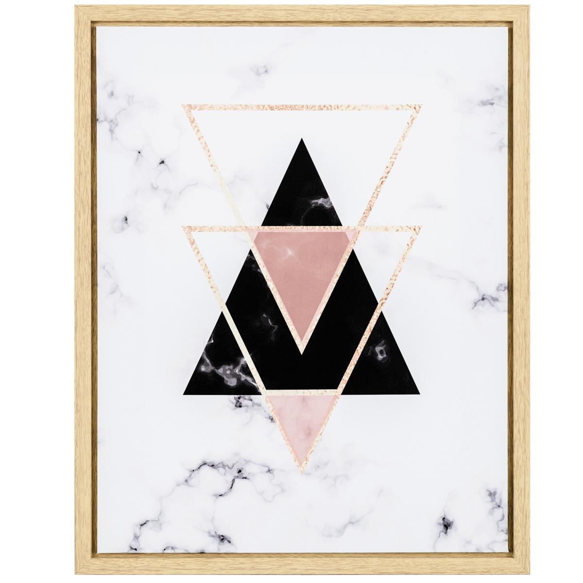 Quadro Em Canvas Com Triângulos