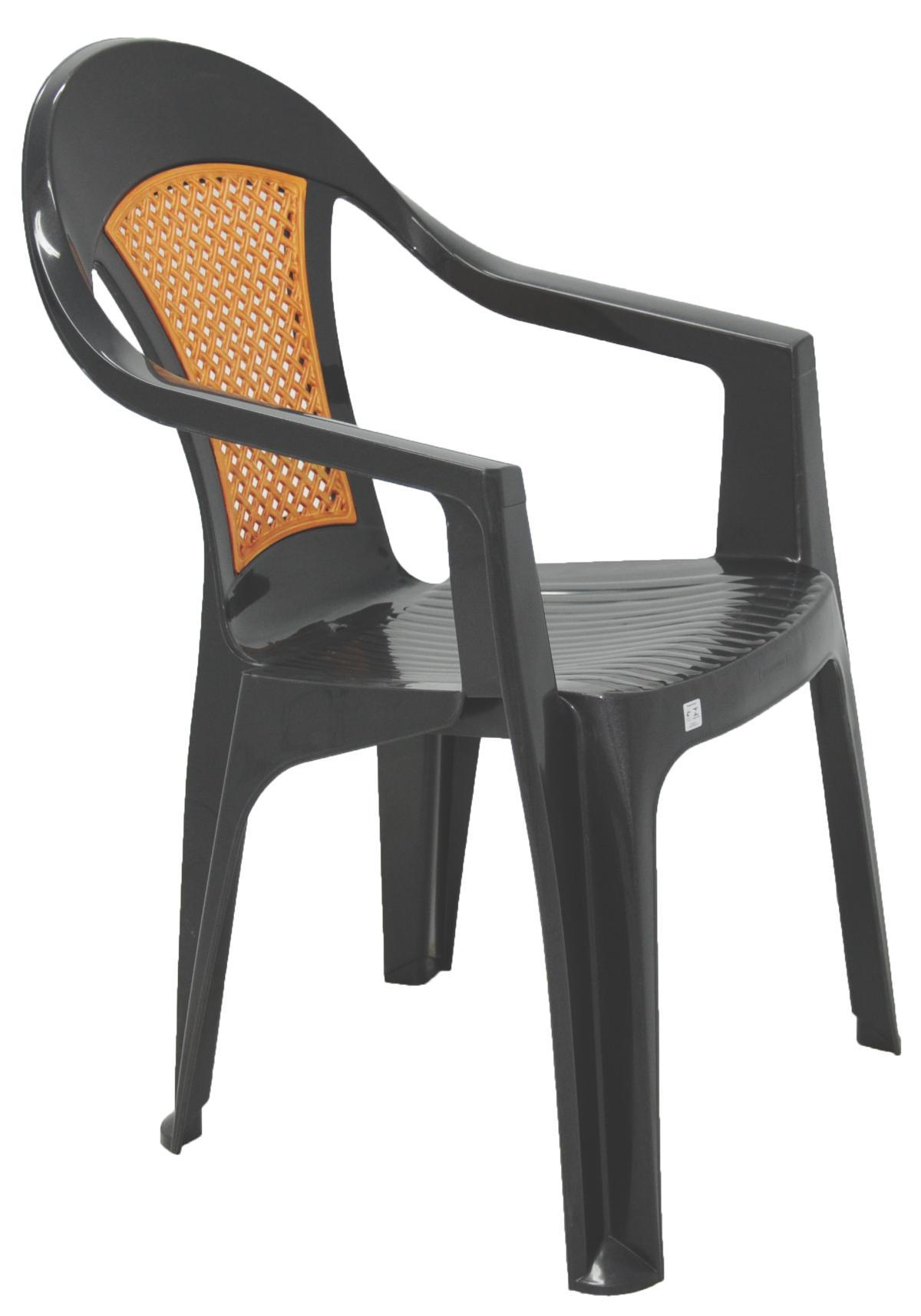 Cadeira Com Braços Malibu Grafite Radical