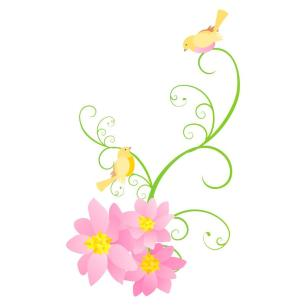 Adesivo Decorativo Floral Real 90x73cm