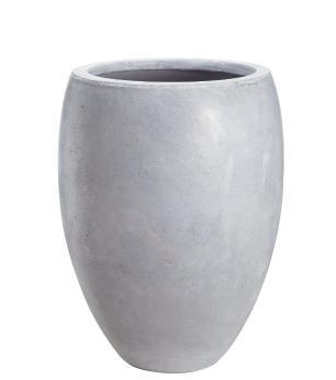 Vaso Em Fibra De Vidro E Argila Natural   Cimento