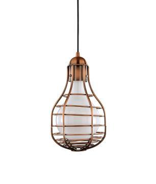 Pendente de Iluminação Metal Cobre e Vidro