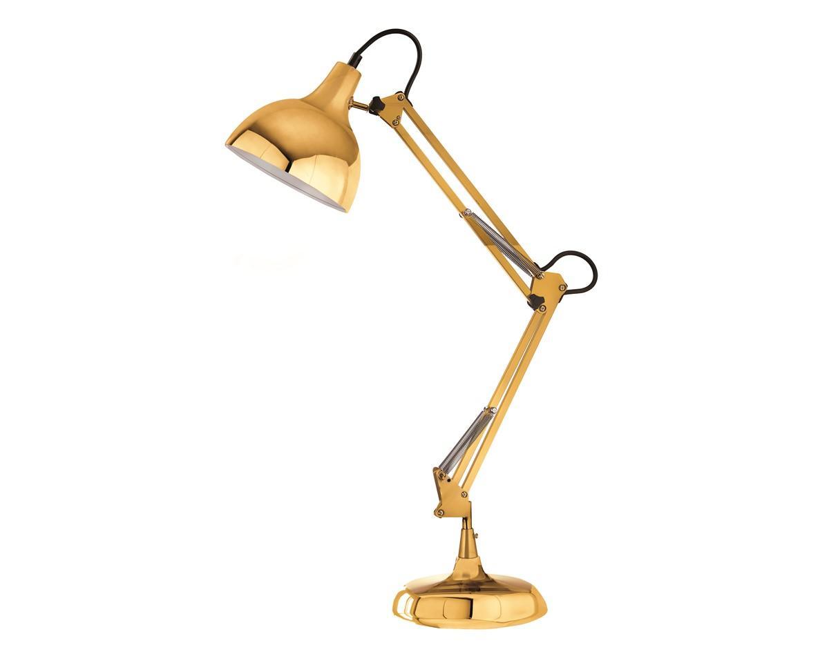 Luminária de Mesa em Metal Dourado