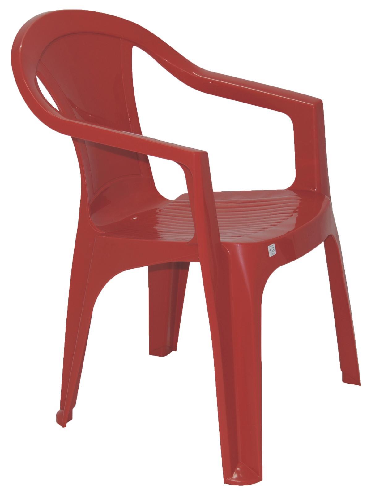 Cadeira Com Braço Ilhabela Fechada Vermelho