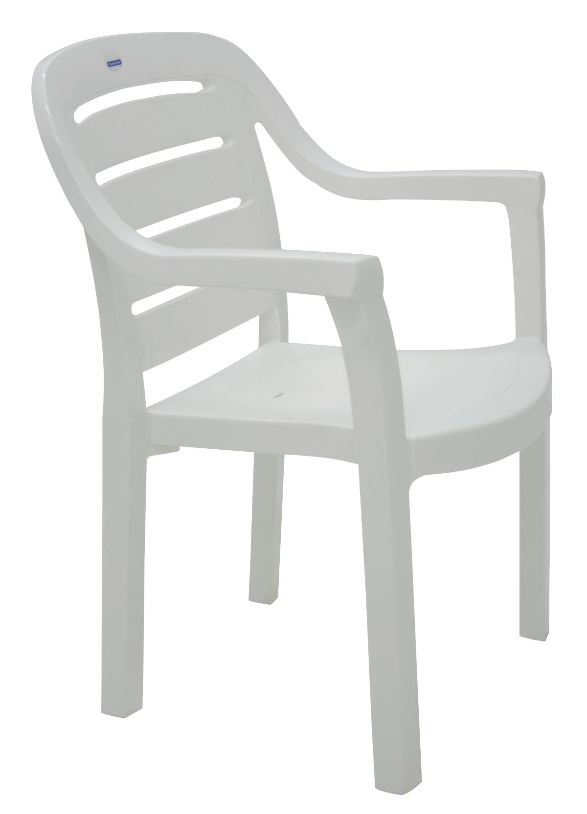 Cadeira Com Braços Miami Horizontal Branco